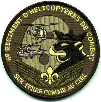 Patch régimentaire type 2 ALM-Xdesing du 6e RHC Alat.fr