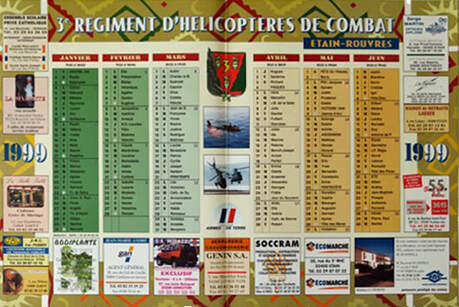 Photo calendrier 1999 recto du 3e RHC. Alat.fr
