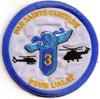 Patch tissu de Sainte Clotilde type 3 du 3e RHC