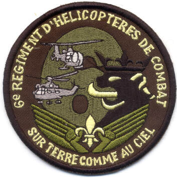 Patch régimentaire type 2 copie du 6e RHC Alat.fr